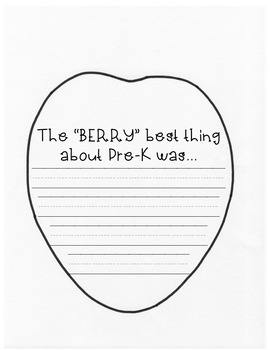 """The """"BERRY"""" Best Thing About This Year Craftivity {And of Year Writing Craft}"""