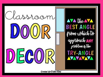 The BEST ANGLE... (Door Decor/Bulletin Board Kit)