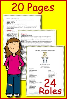 The BEST Christmas Pageant Ever Readers Theater (Play, Script) AND Jeopardy Game