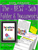 The BEST EDITABLE SIMPLE Sub Folder, Binder, and Documents