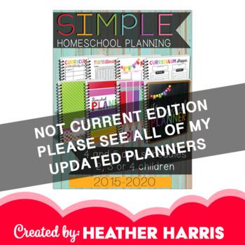 The BEST Homeschool Planner {rainbow colors}