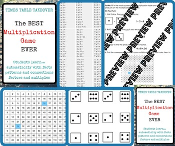 Times Table Takeover: The BEST Multiplication Facts Game EVER!