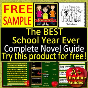 The BEST School Year Ever Novel Study - FREE SAMPLE!