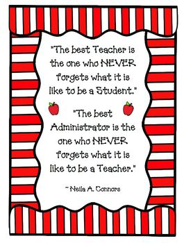 The BEST Teacher Quote The BEST Administrator Quote FREE