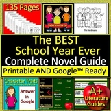 The BEST School Year Ever Novel Study Print and Google Paperless w/ Self-Grading