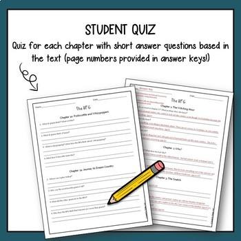 BFG Novel Study with Answer Key
