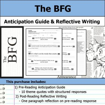 The BFG - Anticipation Guide & Reflection Writing