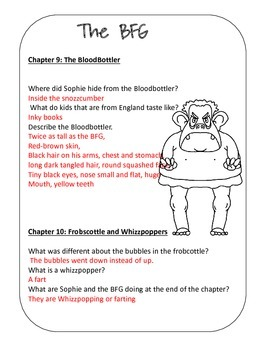 The BFG Book Study (Print and Go)
