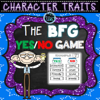 The BFG Character Traits Game