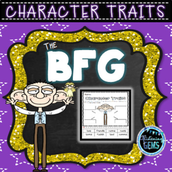 The BFG Character Trait Activities