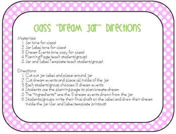 The BFG - Class Dream Jar - Dream Recipe
