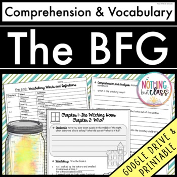 The BFG: Comprehension and Vocabulary by chapter