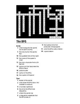 The BFG Crossword Puzzle