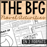 The BFG Interactive Notebook Novel Unit Study Activities, Book Report Project