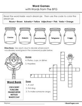 The BFG Lesson Plan, Fifth Grade (Book Club Format - Figurative Language) CCSS
