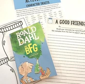 The BFG Lit. Guide/ Novel Study: Vocab, Comprehension, Reading Skills, Quizzes