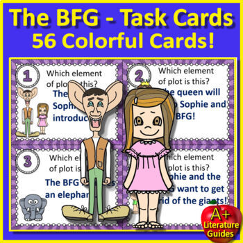 The BFG Novel Study Unit Print AND Paperless Google Ready w/ Self-grading Tests