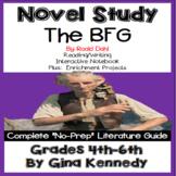 The BFG Novel Study & Project Menu; Plus Digital Option