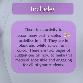 The BFG Novel Study for Special Education