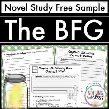 BFG Novel Study Free Sample