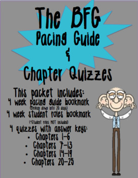 The BFG Pacing Guide and Chapter Quizzes