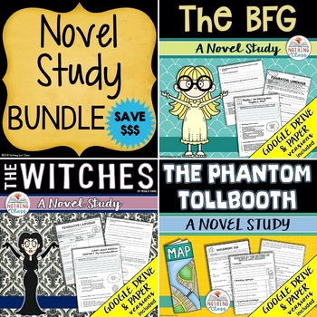 The BFG, The Phantom Tollbooth, and The Witches Novel Study Unit Bundle