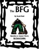 The BFG - Question/Answer Sheet, Giant Vocab, + 3 Writing Activities