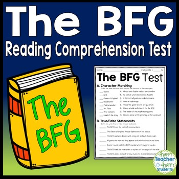 The BFG Test: BFG Final Book Quiz with Answer Key