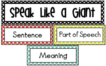 The BFG: Vocabulary - Nonsense Words - Context Clues