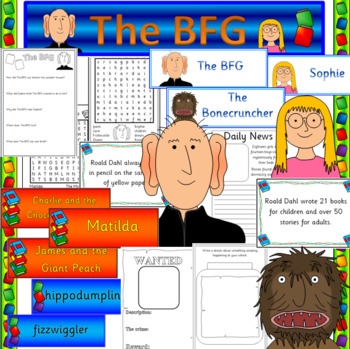 The BFG book study unit- ROALD DAHL