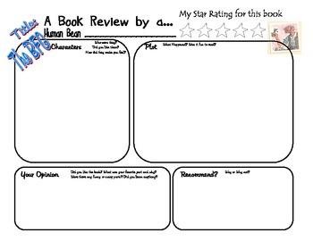 The BFG by Roald Dahl Book Project Book Review Activity Common Core