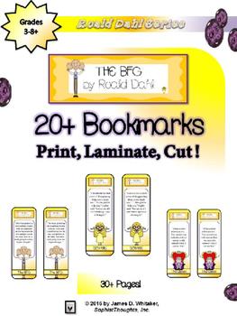 The BFG by Roald Dahl Bookmarks