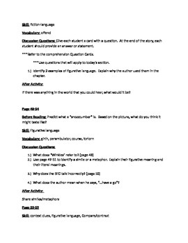 The BFG by Roald Dahl Guided REading Questions