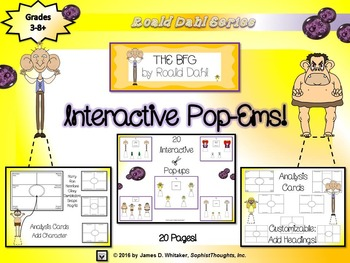 The BFG by Roald Dahl Interactive Character Analysis Pop-Ems
