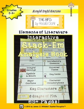 The BFG by Roald Dahl Interactive Stack-Em Analysis Book