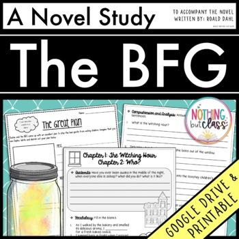 The BFG Novel Study Unit: comprehension, vocabulary, activities, tests