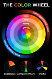 The BIG 24x36in Color Wheel by Design Dojo