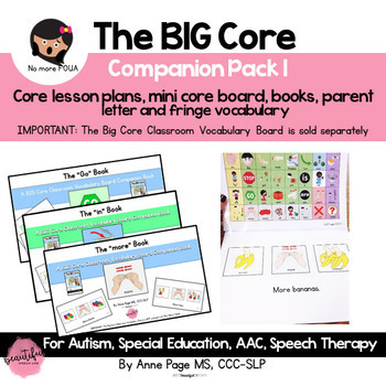 The BIG Core Vocabulary STARTER Bundle: Low Tech AAC for Special Ed & Autism