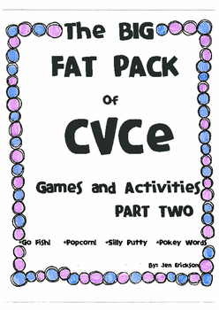 The BIG FAT PACK of CVCe Games and Activities (part 2)