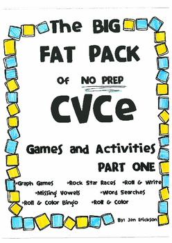 The BIG FAT PACK of NO PREP CVCe Games and Activities (part 1)