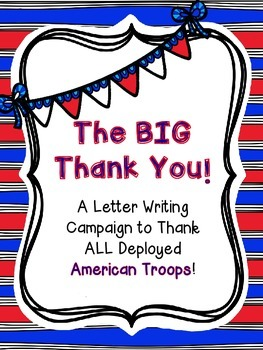 Soldiers:  Soldier Thank You Letter Writing Project