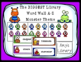 The BIGGEST Library Word Wall A-Z (Monster Theme)