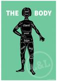 The BODY Poster, English vocabulary, classroom decoration, EFL/ESL/ELL
