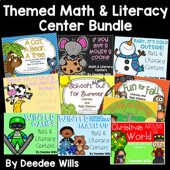 The BUNDLE: Themed Literacy and Math Stations