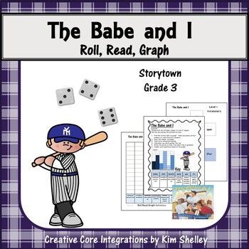 The Babe and I - 4 pack - Matching; Test; Roll Read & Graph; Word Wall & Posters