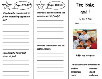 The Babe and I Trifold - Storytown 3rd Grade Unit 2 Week 1