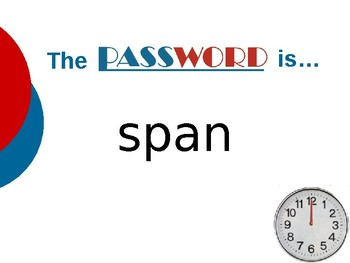 The Babe and I - Vocabulary Password