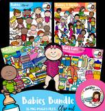 Babies bundle clip art features 139 items!