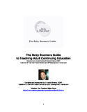 The Baby Boomers Guide to Teaching Adult Continuing Education