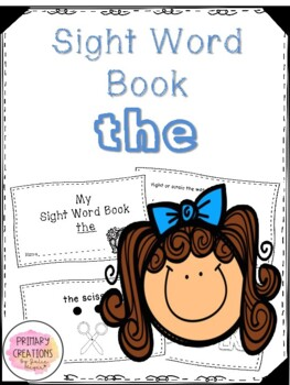 The - Back to School Sight Word Book